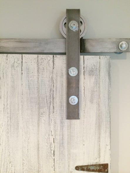 Remodelaholic 35 diy barn doors rolling door hardware for Diy barn door hardware