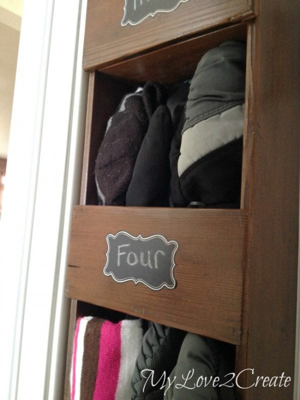 diy small space vertical storage cubbies MyLove2Create