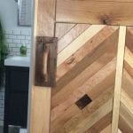 feature diy chevron barn door building tutorial - Emily Seaton on @Remodelaholic