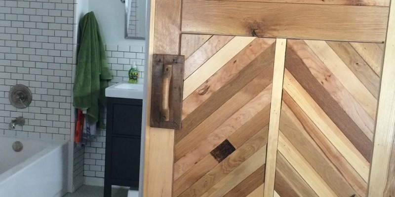 How to Build a Wood Chevron Barn Door