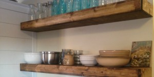 feature diy floating shelves On Bliss Street