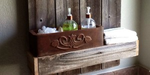 feature weathered wood shelf DIY The Weekend Country Girl