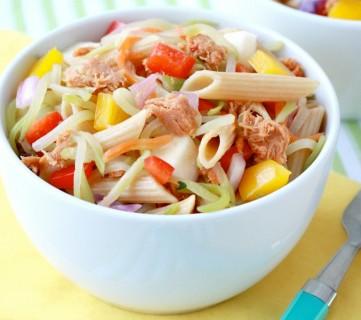 Sweet and Spicy Tuna Pasta Salad