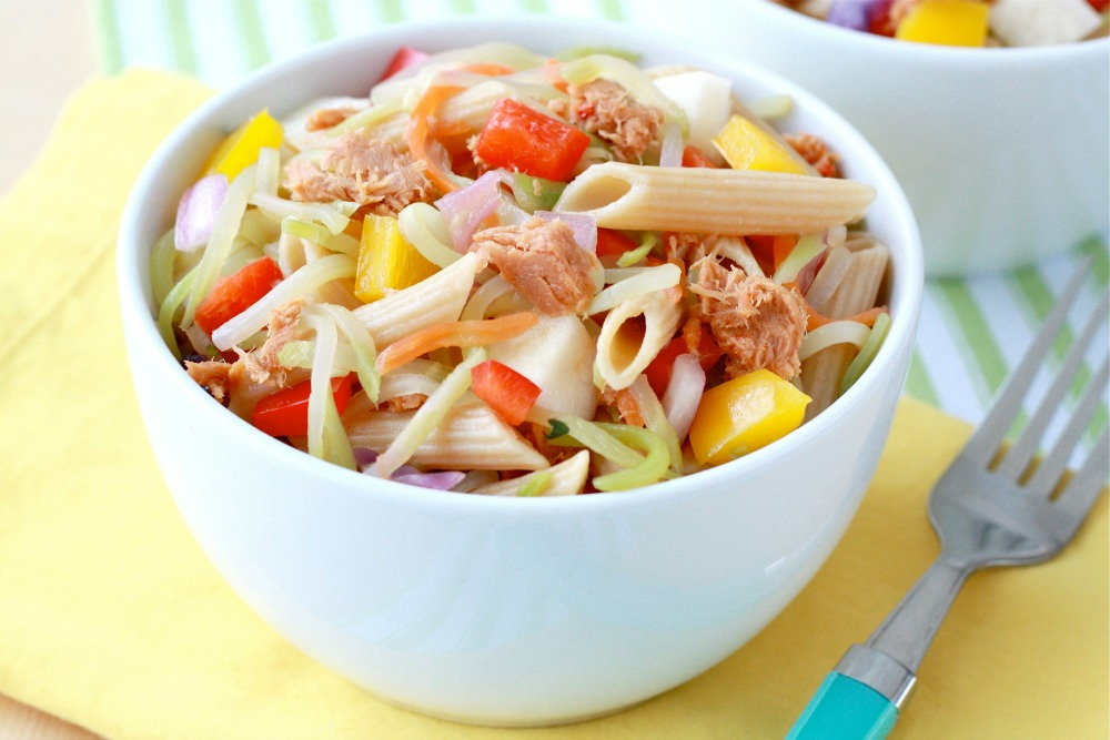 Sweet and Spicy Tuna Pasta Salad