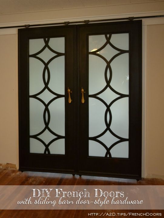 ... French Sliding Doors With Budget Friendly Barn Door Style Hardware    Addicted2Decorating