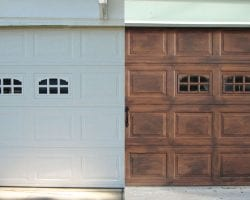 Faux Wood Carriage Garage Door Tutorial by Prodigal Pieces via Remodelaholic