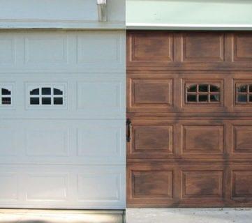 Faux Wood Carriage Garage Door Tutorial