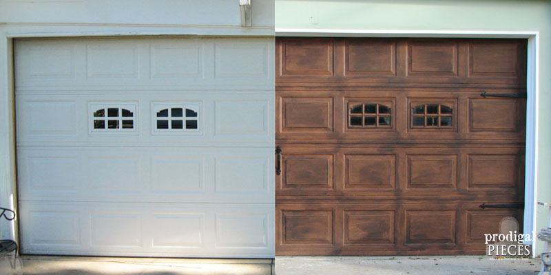 Remodelaholic faux wood carriage garage door tutorial solutioingenieria Gallery