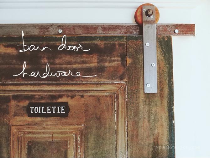 Inexpensive Rolling Barn Door Hardware, Detailed Tutorial   Lynne Knowlton