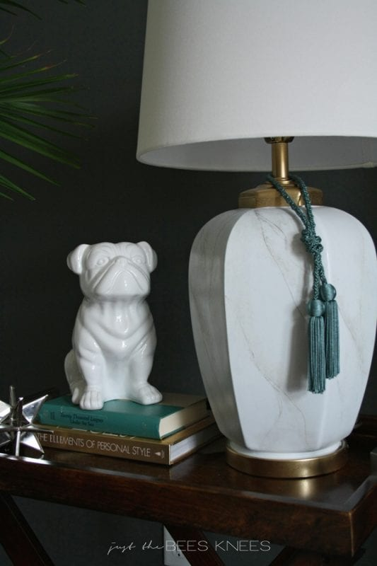 painted faux marble lamp Just The Bees Knees