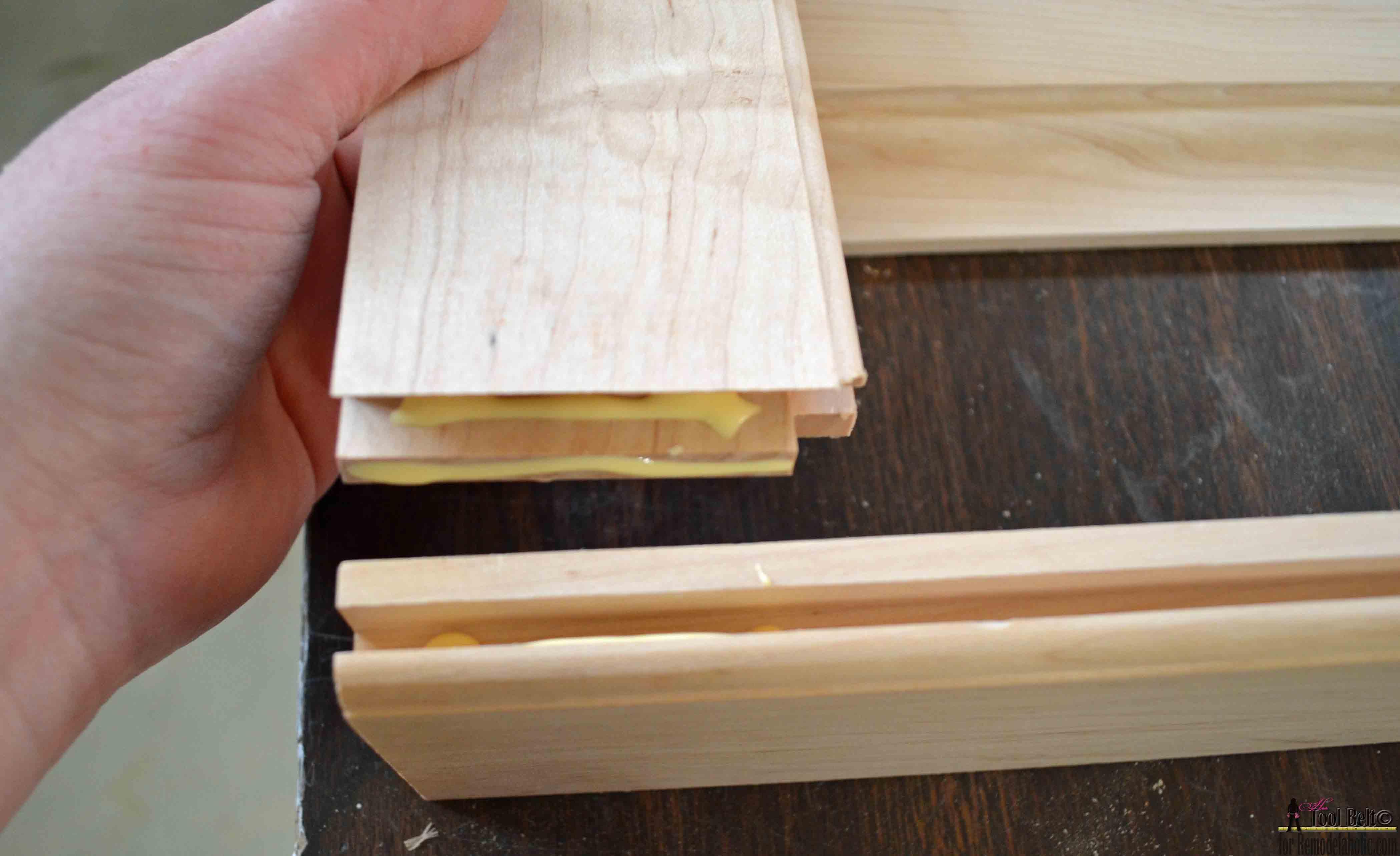 Remodelaholic raised panel cabinet doors for Door rails and stiles
