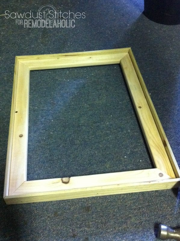 rustic frames sawdust2stitches remodelaholic.com