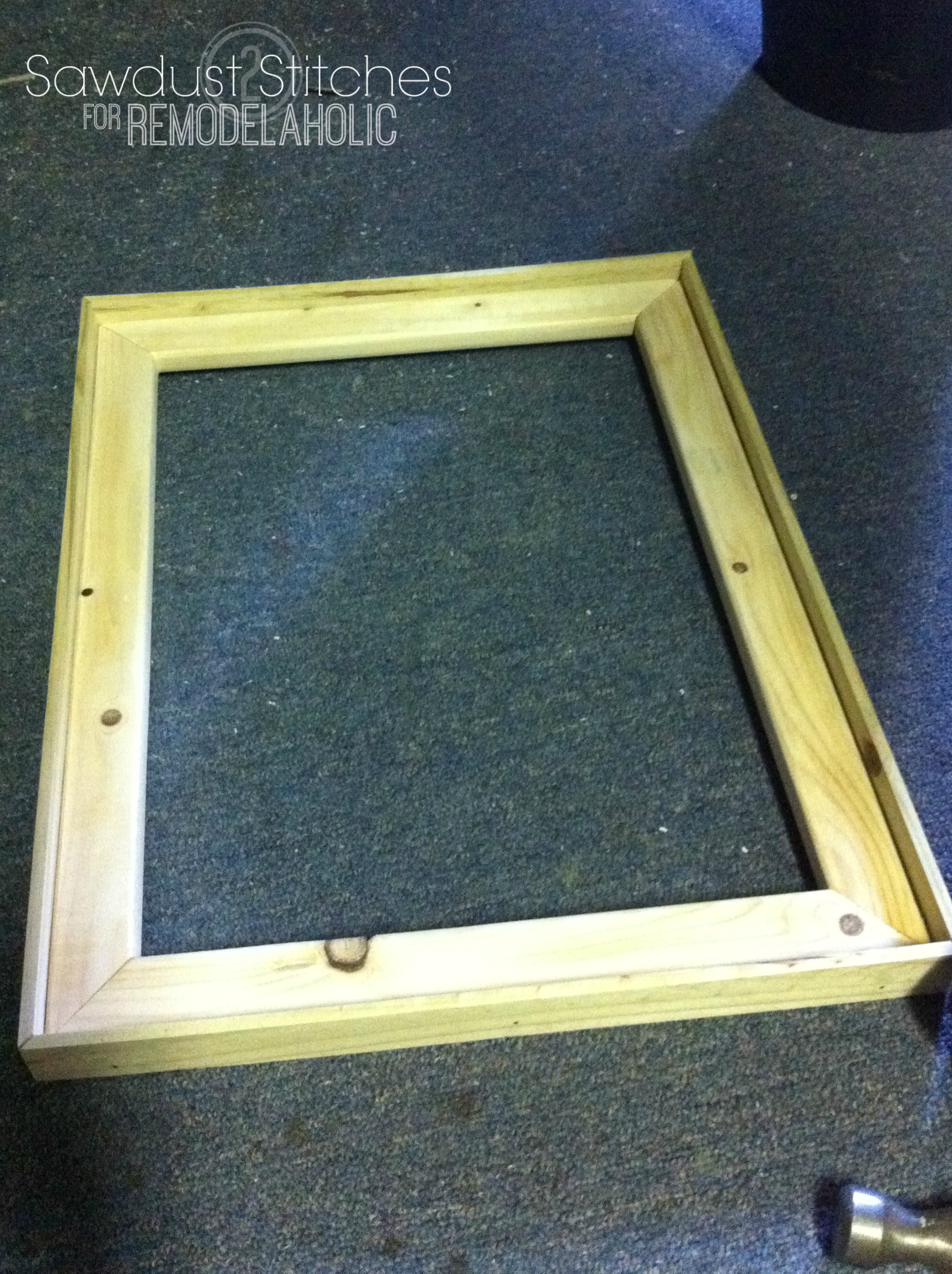 rustic frames sawdust2stitches remodelaholiccom - Diy Picture Frames