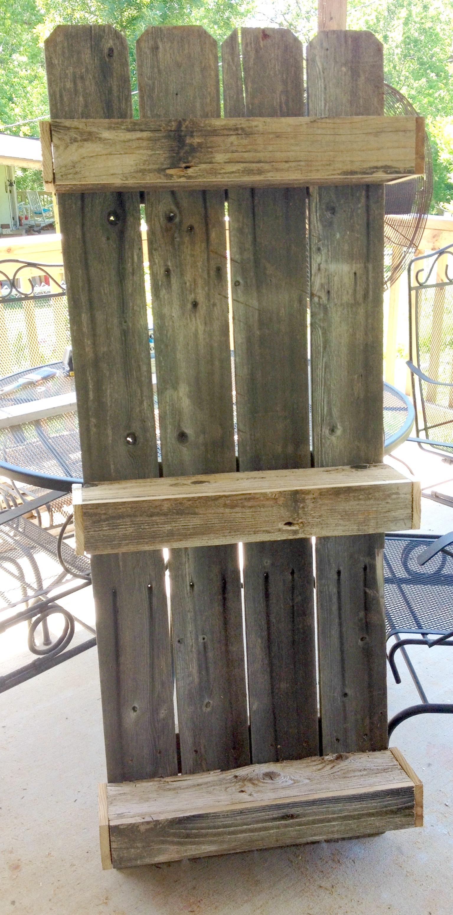 Remodelaholic build an easy rustic bathroom shelf rustic wall shelf for the bathroom built from fencing the weekend country girl on amipublicfo Images