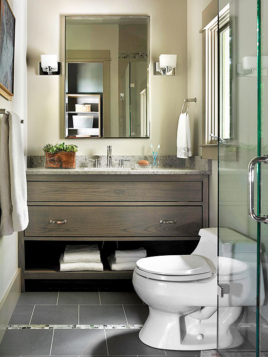 Remodelaholic | 6 Characteristics of Stylish Simple Bathrooms