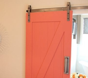 35 DIY Barn Doors + Rolling Door Hardware Ideas