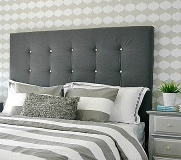 DIY Tufted Upholstered Headboard Tutorial