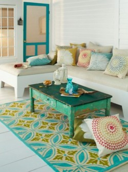 build a simple patio bench and matching coffee table