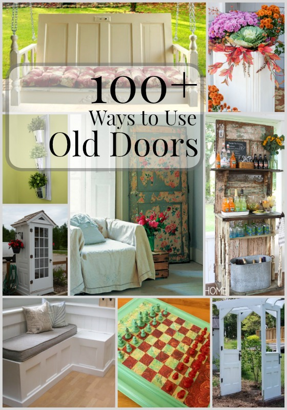 Remodelaholic 100 ways to use old doors - How to use old doors and windows ...