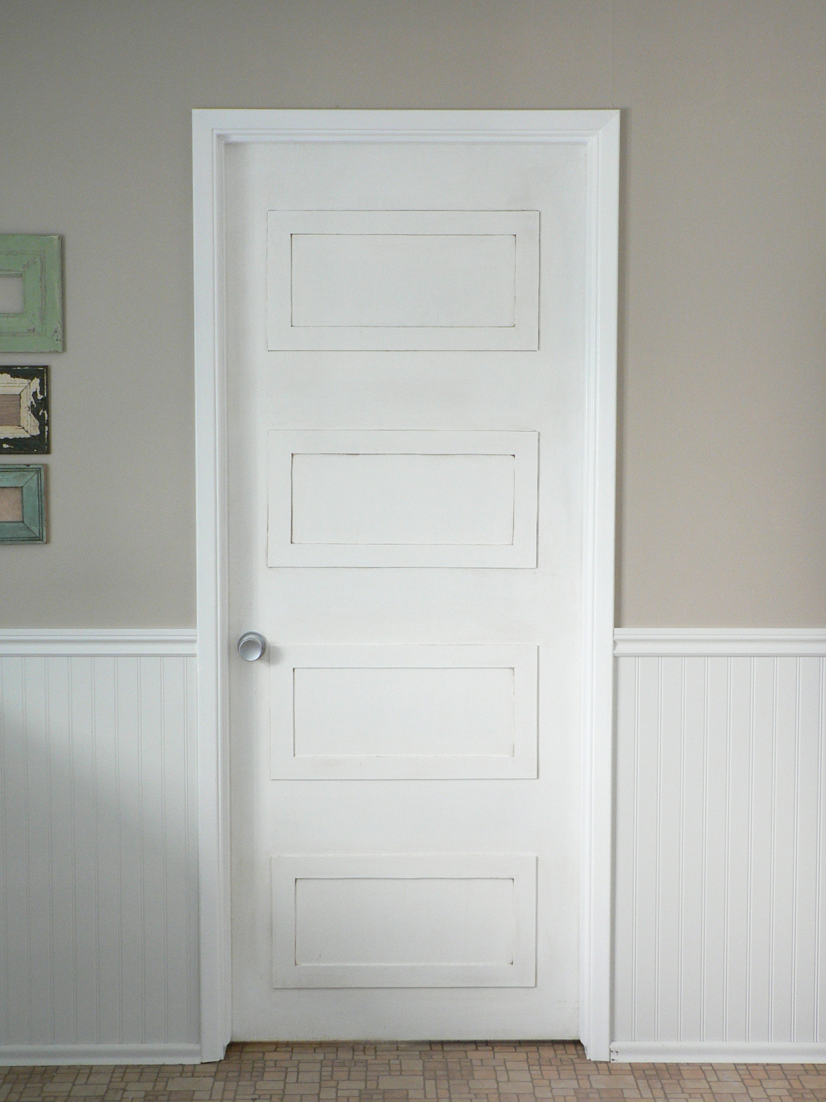 rectangle paneled door diy update for the love of it