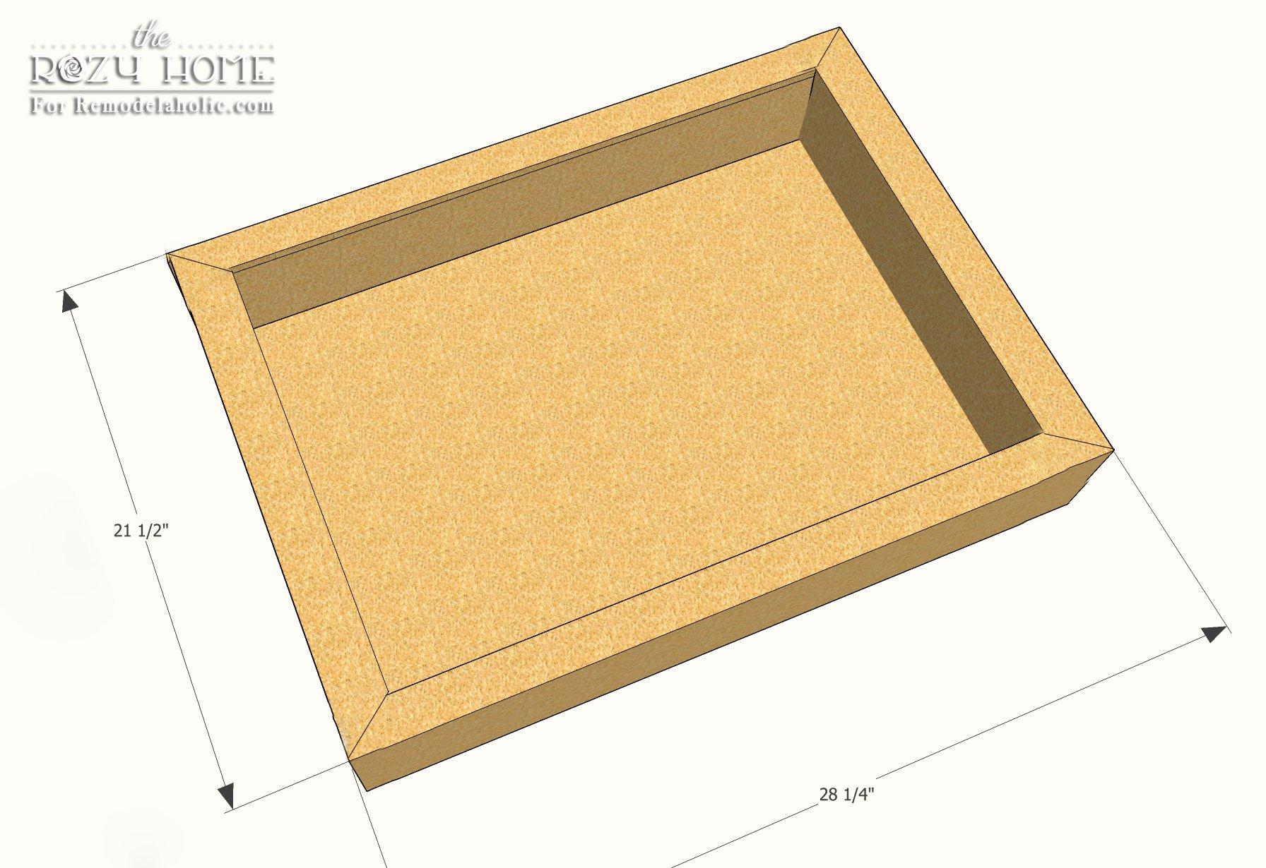 Kitchen cabinet drawer measurements - 45 Degree Miter Corner Measurements