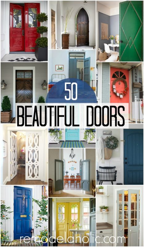 50 Inspiringly Beautiful Doors @Remodelaholic