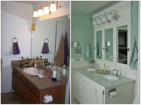 Bathroom makeover before and after - Batchelors Way on @Remodelaholic