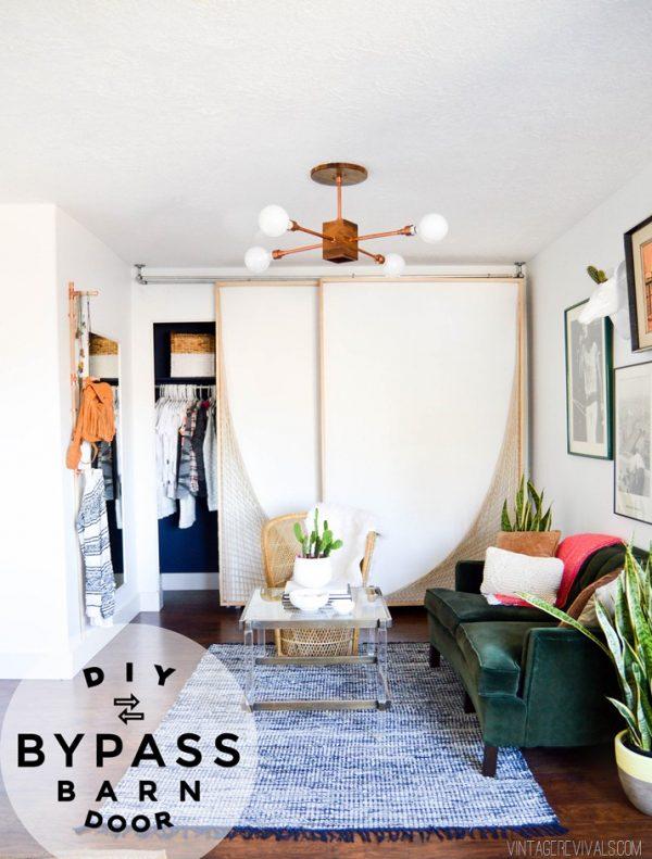 Beautiful Doors - DIY bypass barn door with woven accent Vintage Revivals