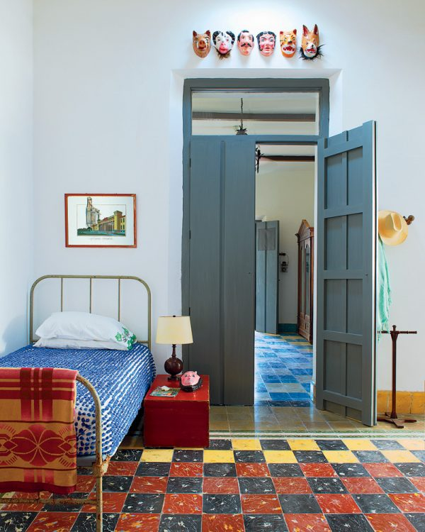 Beautiful Doors - black double sided paneled doors via NYTimes