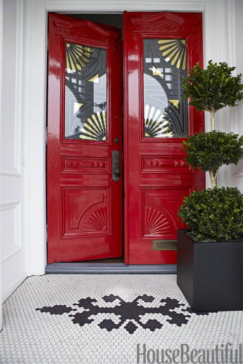 Beautiful Doors - carved red front doors