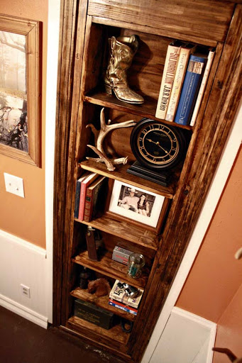 Beautiful Doors - diy inset bookcase door shelf Ana White