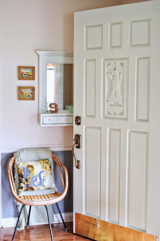Beautiful Doors - entry carved door in Porter St Augustine mint green Craftivity Designs