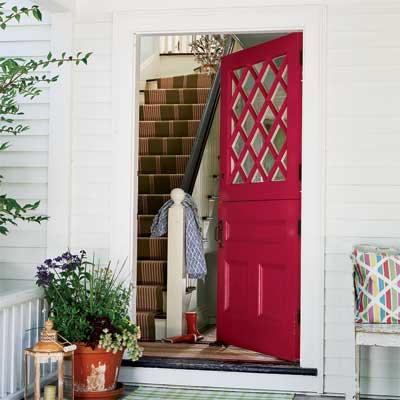 Beautiful Doors - entry door in Benjamin Moore Raspberry Glaze