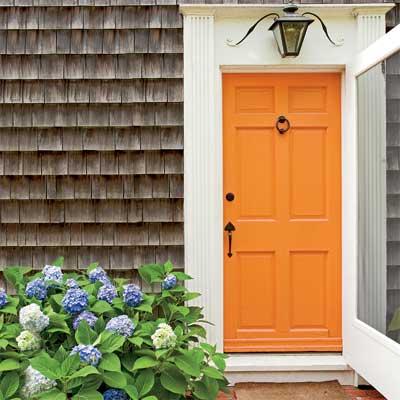 beautiful doors entry door in orange navel