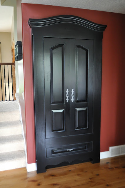 Beautiful Doors - front closet to look like armoire I Am Momma Hear Me Roar