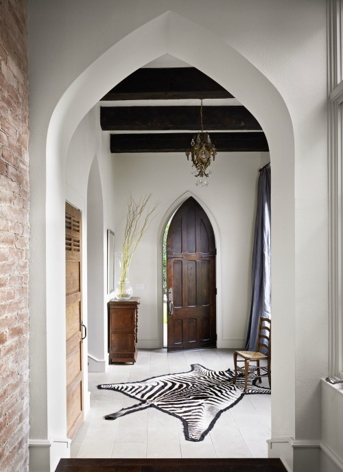 Beautiful Doors - gothic peaked wood entry door via DecorPad