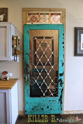 Remodelaholic 50 beautiful doors front door paint colors for Hideaway screens for french doors