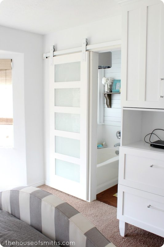 Beautiful Doors - white modern sliding barn door House of Smiths