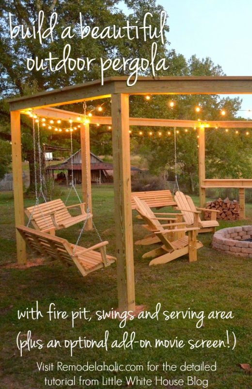 Build an outdoor pergola around a firepit