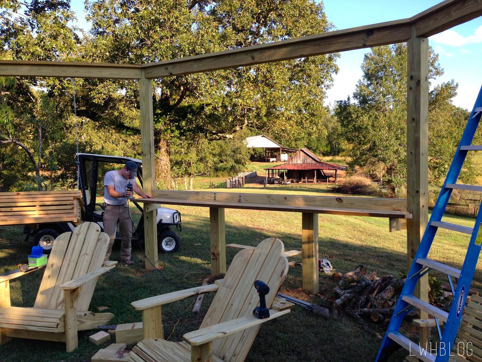 Tutorial Build an Amazing DIY Pergola and Firepit with Swings