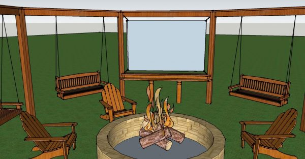 Building a Pergola with an Optional Movie Screen by Little White House Blog featured on @Remodelaholic