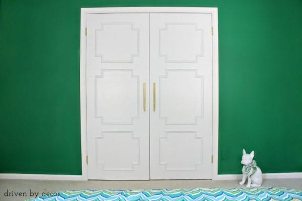 Create Stylish Closet Doors With Moulding by Driven by Decor featured on Remodelaholic