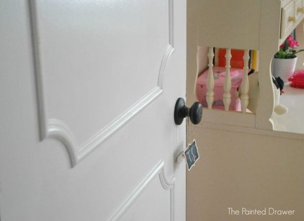 Create a Paneled Door by The Painted Drawer featured on @Remodelaholic