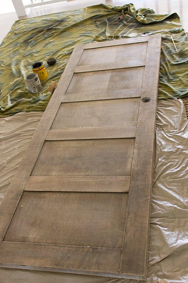 5 panel door from a flat hollow core door remodelaholic for Wood panel interior doors