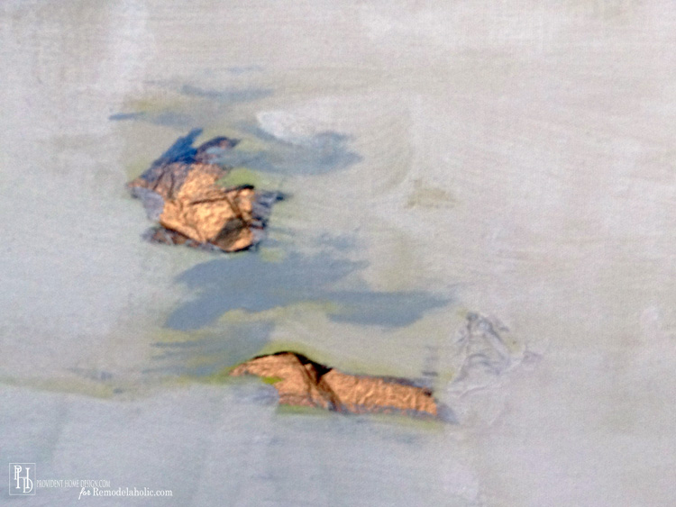 DIY Abstract Painting Close Up