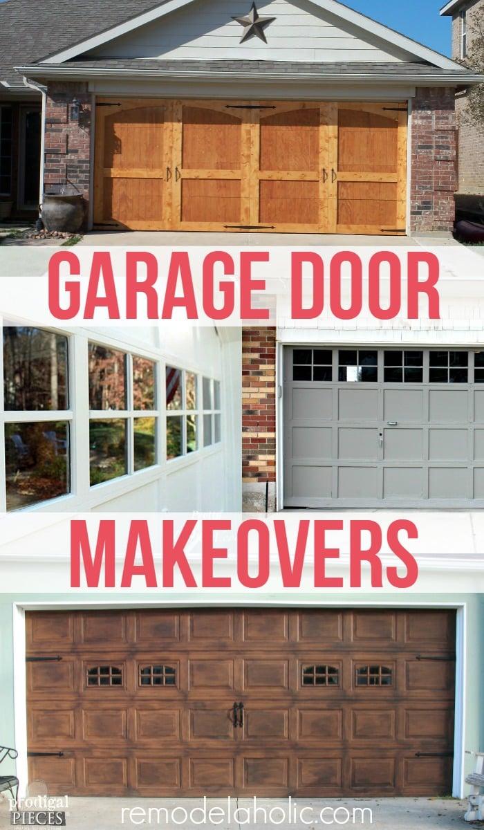 remodelaholic | 8 diy garage door updates