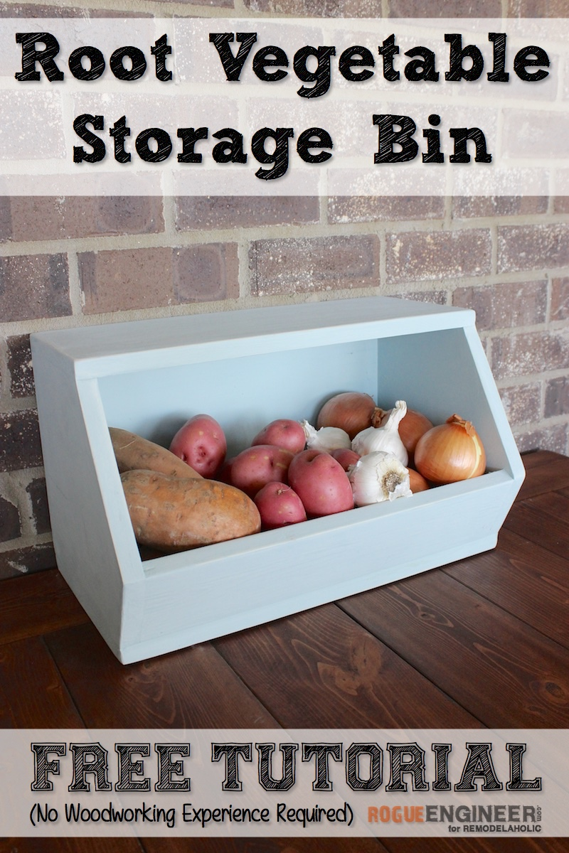 Remodelaholic Stackable Root Vegetable Storage Bin