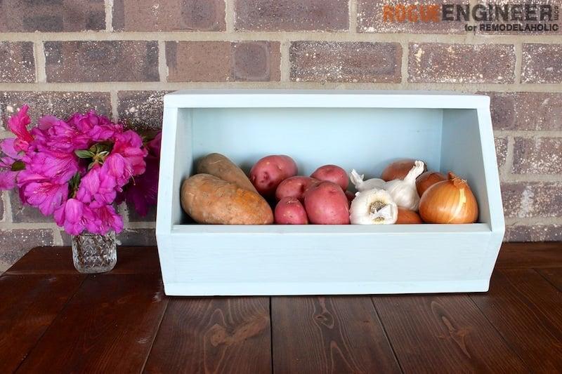 Countertop Vegetable Storage : DIY Root Vegetable Storage Bin - Free Tutorial - Rogue Engineer
