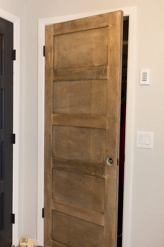 DIY Wooden 5 Panel Door by Jenna Sue Design Co featured on @Remodelaholic
