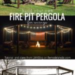 DIY Backyard Fire Pit Pergola For Swings, Plans And Tutorial Remodelaholic